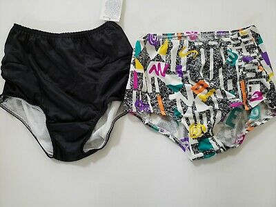 VINTAGE 70s 80s Poc A Ball Sport Panties Briefs 2 Pack Black Multi Size S 5