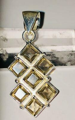 Smoky Topaz Pendant 925 Conquer Challenges Success Career Opportunity Fin Gain