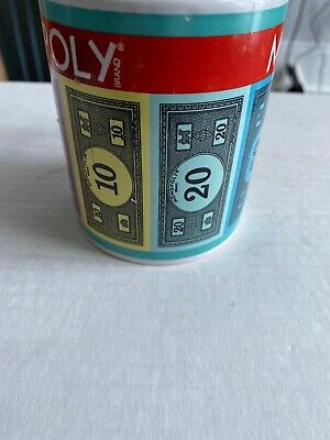 MONOPOLY MONEY Coffee Cup Mugs Vintage Hasbro