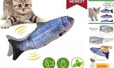 Moving Catnip Fish Funny Cat Cats Kitten Toys Realistic Plush Electric Wagging