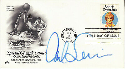 CARL LEWIS hand signed '79 Special Olympic Games FDC first day cover autographed