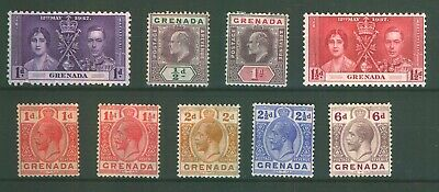 Commonwealth Stamps GRENADA KINGS on Stock Card Mint.