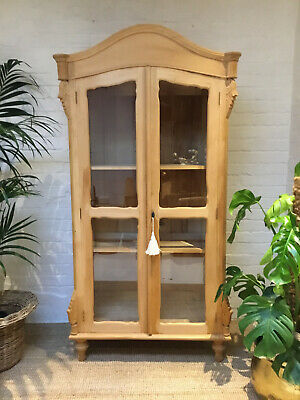 Stunning Solid Wood Display Cabinet Armoire Linen Press