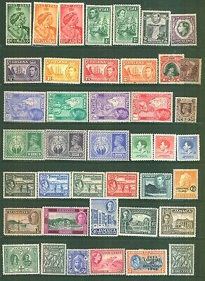 Commonwealth 41 Pre Dicimiel Stamps Selection MINT