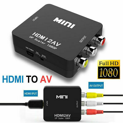 HDMI To RCA Mini Composite 1080P Audio Video AV CVBS Adapter Converter for TV HD