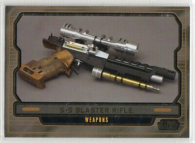 2013 Star Wars Galactic Files Gold Parallel Card #594 S-5 Blaster Rifle 09/10