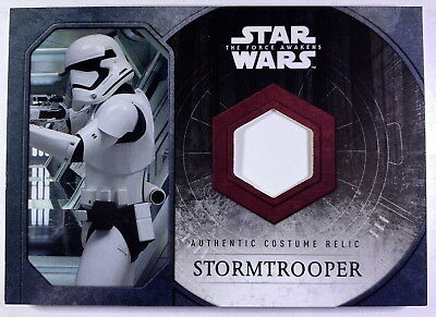 "2015 Star Wars Force Awakens Stormtrooper ""Upper Arm Piece"" Costume Card"