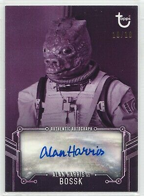 2019 Star Wars ESB Black & White Alan Harris as Bossk Autograph Card 10/10