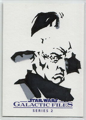 2013 Star Wars Galactic Files 2 Even Piell Sketch Card by Robert Teranishi
