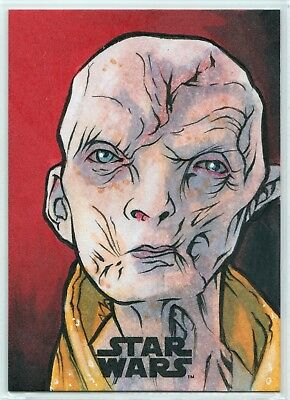2018 Star Wars The Last Jedi Series 2 Supreme Snoke Sketch Card by Brad Hudson