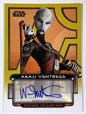 "Star Wars Galactic Files ""Nika Futterman as Asajj Ventress"" Autograph Card 23/25"