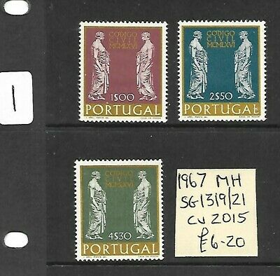 (P938) PORTUGAL, 1967 MH, Stamps, SG 1319-1321, cat val in 2015...£6.20