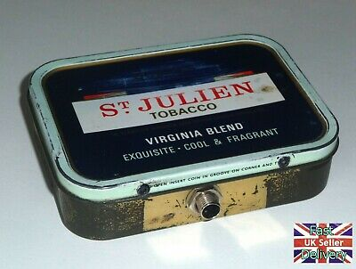 'OLD TIN STOMP BOX'. HAND MADE FROM AN OLD St JULIEN TOBACCO TIN. @@@@@@@@@@@@@