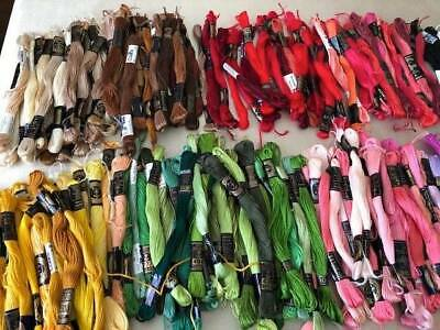 Huge Collection Of 240 Vintage Clark's Anchor Embroidery Skeins