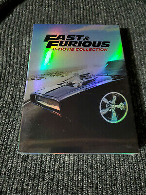 Fast and Furious: 8-Movie Collection (DVD, 2017, 9-Disc Set) New!