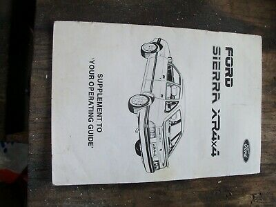 Ford Sierra Xr4X4 Operating Guide Manual Booklet Used Rare
