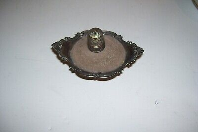Beautiful Antique STERLING SILVER Pin Cushion & Thimble-Pin Cushion is by GORHAM