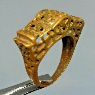 Ancient Rare Ring Bronze Legionary Roman Old Ring Authentic Artifact