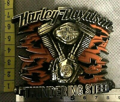 "Harley Davidson ""Lighting Steel"" Belt Buckle"