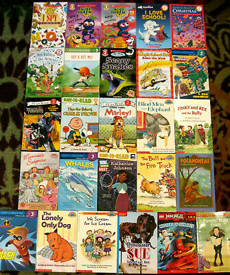Lot 26 Childrens Kids Level 1 2 3 & 4 Readers Paperback Books Easy Learn To Read