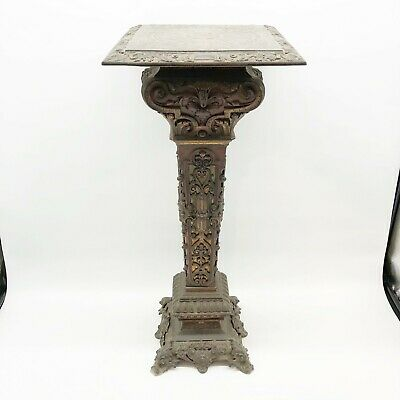 Antique 19th Century Ornate Metal Pedestal Stand