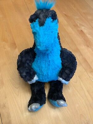BABW Build A Bear Dino Dinosaur Stegosaurus Blue Charcoal Silver 19""