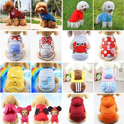 Cartoon Small Dog Clothes Pet Puppy Cute Vest Sweater Dog Cat Winter Apparel
