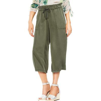 Vince Camuto Womens Green Lyocell Wide Leg Pull On Cropped Pants S BHFO 1285
