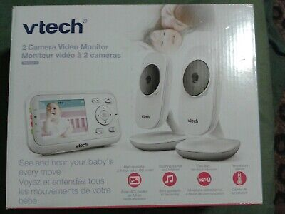 """VTech Video Baby Monitor with 2 Cameras and 2.8"""" Screen Size (VM3252-2)"""