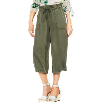 Vince Camuto Womens Green Lyocell Wide Leg Pull On Cropped Pants XS BHFO 8991