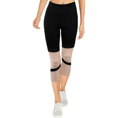 Kendall + Kylie Womens Pink Cropped Running Fitness Leggings L BHFO 2890