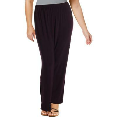 R&M Richards Womens Purple Office Wear Business Dress Pants Plus 14W BHFO 2862