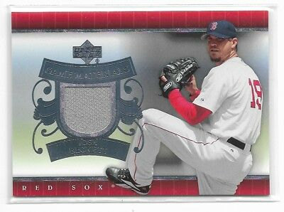 2007 Upper Deck UD GAME MATERIALS Josh Beckett Boston Red Sox GAME-USED Jersey