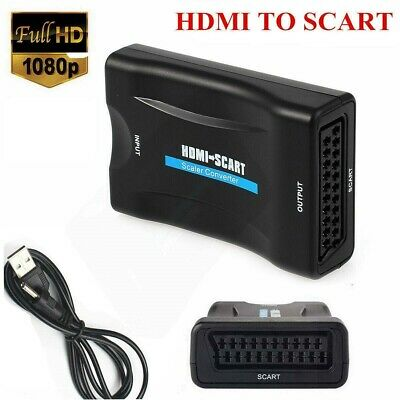 HDMI to SCART Adapter 1080P Composite Video Audio Converter for HDTV PS4 DVD PC
