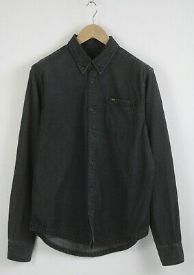 TIGER OF SWEDEN / JEANS BROOKS SCRAP Men's LARGE Black Denim Shirt 22644_JS