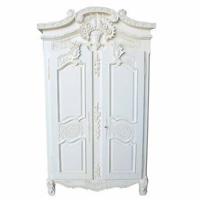French White Armoire Wardrobe - New