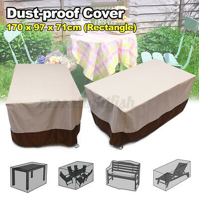 Extra Large Garden Rattan Outdoor Furniture Cover Patio Table Protection UK