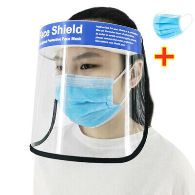 Safety Full Face Shield Clear Glasses Protector Anti-Fog Work Industry Dental*
