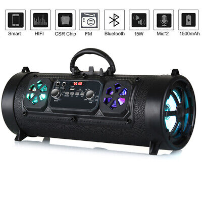BIUBLE 40w Portable Wireless Bluetooth Speaker Waterproof Stereo Bass TF/AUX/MP3
