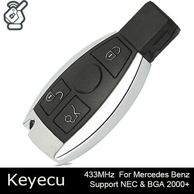 Replacement Remote Key Fob 433MHz for Mercedes-Benz 2000+ Support NEC /& BGA
