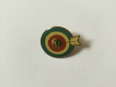 Collectable metal badge  - McDonalds Aiming To Please