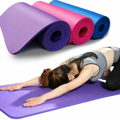Yoga Mat EXTRA THICK 10mm 183cm x 61cm Non Slip Exercise/Gym/Camping/Picnic UK