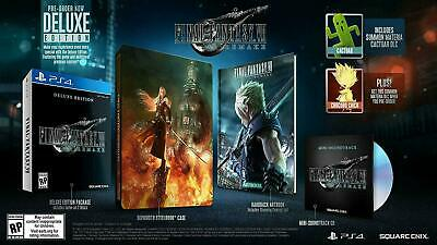 Final Fantasy VII 7 Remake Deluxe Edition PS4 Playstation Steelbook Art Presale