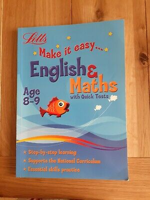Letts make it easy Maths and English workbook for Age 8-9