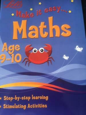 Letts Make it Easy Maths Aged 9-10 Home Education School Learning  NEW