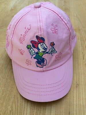 Authentic Disney Minnie Mouse Baseball Cap Childs 2-7 Years Pink Girls Genuine