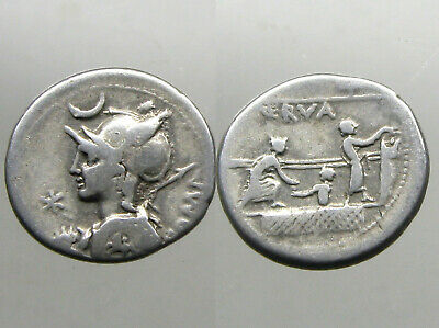 LICINIA 7 SILVER DENARIUS_______Roman Republic_______ACTUAL VOTING PROCESS SHOWN