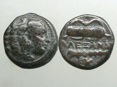 ALEXANDER III THE GREAT BRONZE AE18_______Ancient Macedonia_______CLUB & BOWCASE