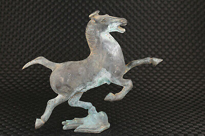chinese old bronze hand carved fly horse statue figure collectable