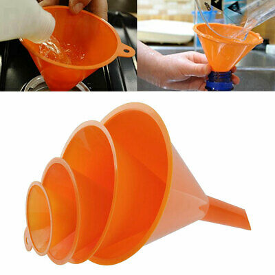4Pcs/Set Plastic Funnels Pour Oil Fuel Petrol Hopper Kitchen Car Tool